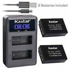 LP-E17 Battery & Dual LCD Charger for Canon Rebel SL2 T6i T6s T7i, KISS X8i X9i