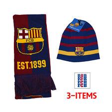62fe6978828 Barcelona Scarf Reversible and Beanie New Season 18 Messi 10 Cap HAT fcb  0023