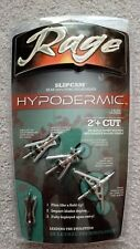 "NEW Rage Hypodermic SlipCam 2 Blade 100 Gr 2"" Cut Broadheads 3pk + Practice Head"