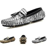 Men's Driving Moccasin Pumps Loafers Shoes Flats Slip on Tassel Casual Nightclub