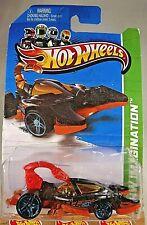 2013 Hot Wheels #52 Hw Imagination-Hw Street Pests Scorpedo Black/Orange Variant
