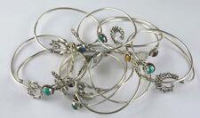 Malachite Gemstone 50pcs 925 sterling silver overlay adjustable cuff bangles