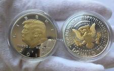 Donald Trump 2 Tone Gold on Silver 2017 Commemorative coin Collectors Gift