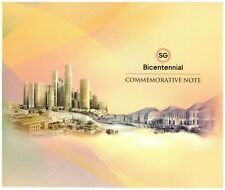 2019 Singapore $20 Polymer 200th Bicentennial Commemorative Note with Folder UNC