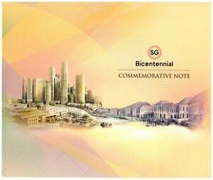 2019 Singapore $20 Polymer 200th Bicentennial Commemorative AE 759003 Folder UNC