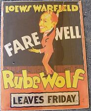 Early 1930's Rube Wolf Poster, Loews Warfield Theater, San Francisco