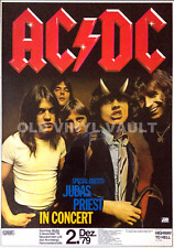 AC/DC, Judas Priest – 1979 Nuremberg, Germany Concert Poster A3 Size Repro 'NEW'