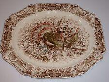 Johnson Brothers Windsor Ware Native American Wild Turkeys Turkey Platter