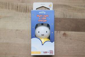 Miffy Night LED Light & USB Charger 0.3 Watt >10Lumen Warm White 2700K