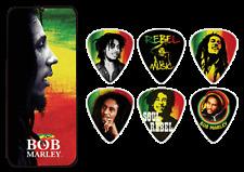 BOB MARLEY Guitar Picks 6 Pack Tin Box Rebel OFFICIAL MERCHANDISE