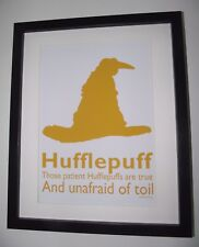 Harry Potter Inspired Sorting Hat - Hufflepuff Picture - A4 Art Print / Poster