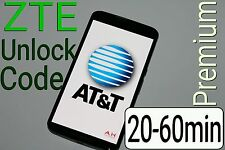 Unlock Code AT&T ZTE Maven Z835 Z812 Z971 Z831 Z830 ZMAX 2 Z958 Z998 Z992 USA