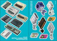 2 x sticker sheets - Sinclair, Commodore, Atari, Nintendo, Sega, Amstrad, etc.