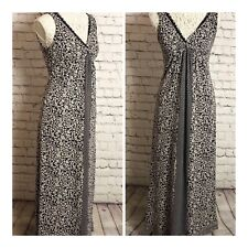 Fat Face Navy & White Floral Print Maxi Dress Size 6 Holiday Cruise Smart