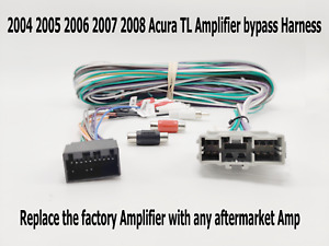 2004 2005 2006 2007 2008 Acura TL Amplifier Bypass Harness for Factory Amplifier