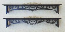 Dollhouse 1:12 pair of black ebony double window cornices  Artist Made furniture
