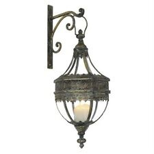 The Elsbeth Antique Brass Moroccan Style Candle Lantern & Bracket Stunning