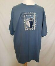 NWT Royal Caribbean Mens 3XL T-Shirt RCI Ship Stamp S/S Tee Blue Cruise STR-214