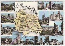 CPSM 63 LE PUY DE DÔME Multivues 14 vues carte géographique Edt COMBIER