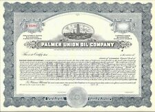 PALMER UNION OIL COMPANY.....UNISSUED COMMON STOCK CERTIFICATE
