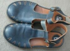 Fly London Blue Leather Wedge Sandals ~ Size 38
