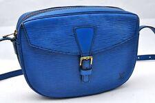 Authentic Louis Vuitton Epi Jeune Fille Shoulder Bag Blue LV 98340