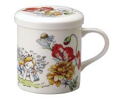 Disney Mug Cup With lid Alice in Wonderland Porcelain From Japan NEW