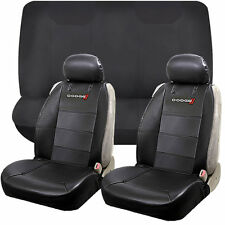 6pcs Dodge Elite Synthetic Leather Sideless Seat Cover & Bench Universal Set