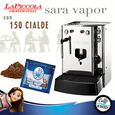 MACCHINA DA CAFFE A CIALDE La Piccola SARA VAPOR con BORBONE blu