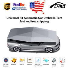 Gray Universal US Car Automatic Umbrella Tent Remote Anti-UV Sunshade Full Cover
