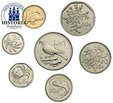 Malta 1,93 LIRA 1998 a 2001 BFR. münzsatz da 7 monete