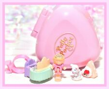 ❤️Polly Pocket VTG 1991 Polly's Big Night Out Dressing Room Ring Case COMPLETE❤️