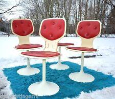 4x 70er Stuhl Tulpenfuß Tulip Chair Trompetenfuß Esszimmerstühle Drehstuhl Space