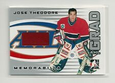 2005-06 ITG Heroes & Prospects AHL Grad AG-06 Jose Theodore Jersey Silver /70