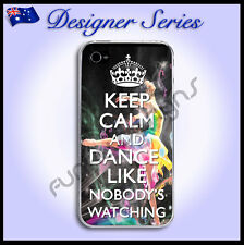 Designer Apple iPhone 4 4S case Pretty Dancing cover Keep Calm & Dance 43