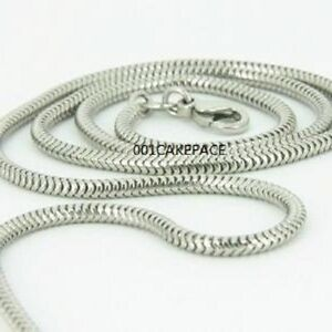 """2mm 925 SILVER 22"""" SNAKE CHAIN WITH LOBSTER CLASP NEW"""