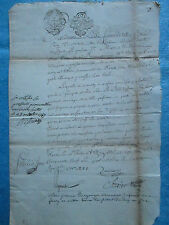 DOC MS 1788 : PROCURATION HERVIER Maître traiteur à Paris (Auvergne)