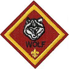 Cub Scout WOLF RANK Merit Badge Patch - Boy Scout BSA