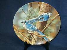 """Vintage 8.5"""" Knowles The Blue Jay by Kevin Daniel Collector's Plate w/box"""