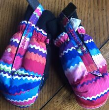 Obermeyer Girls Ski/Snow Gloves Xl Multicolor Pink and Blue