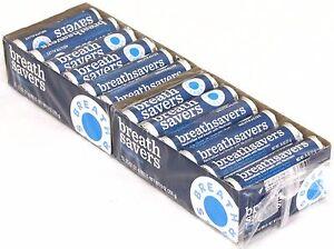 Breath Savers Peppermint Pack of 24 Rolls Mints Breathsavers Bulk Mint Candy