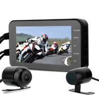 4 inch 1080P HD Dual Lens Camera Motorcycle DVR Dash Cam Driving Video Recorder