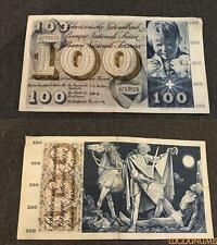 Suisse 100 Francs 25-10-1957 4Z53615 TTB Switzerland
