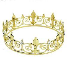 New! Men's Imperial Medieval Fleur Gold King De Lis Crown 16.5cm Diameter US