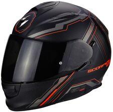 Scorpion Exo-510 Air Sync Matt Black Red Full Face Motorcycle Helmet L 59 - 60