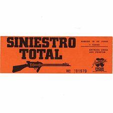 Siniestro Total Concert Ticket Stub Valencia Spain 6/18/91 Pacha Auditorium Rare