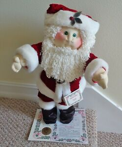 1991 CABBAGE PATCH KIDS SOFT SCULPTURE CHRISTMAS EDITION BOY SANTA NICK w/PAPERS