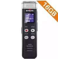 EVISTR 16GB Digital Voice Recorder Voice Activated Recorder with Playback - Upgr