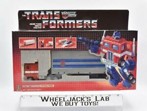 Optimus Prime CEJI BLUE FOOT EUROPEAN BOX MIB 1986 Vintage G1 Transformers