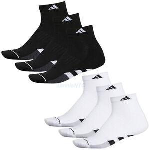 ADIDAS Cushioned 3-Pack Quarter Men's Tennis Athletic Socks Size 6-12